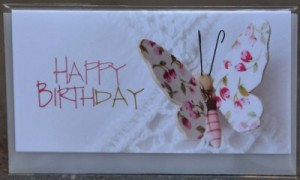 Karte Happy Birthday Schmetterling